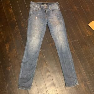 Express Super Skinny Custom Painted Jeans 2